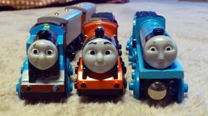 正面からの写真 トーマス、ジェームス、ゴードン