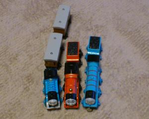 上からの写真 トーマス、ジェームス、ゴードン