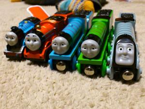 左からトーマス、ジェームス、ゴードン、ヘンリー、スペンサー