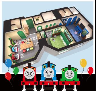 トーマスルーム初のスイートルーム「機関庫とトーマスとパーシーのお部屋」がオープン!